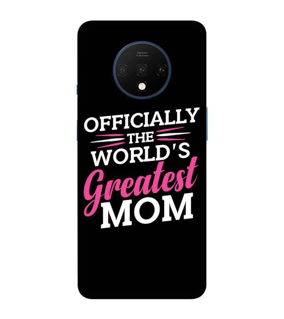 World's Greatest Mom Back Cover for OnePlus 7T