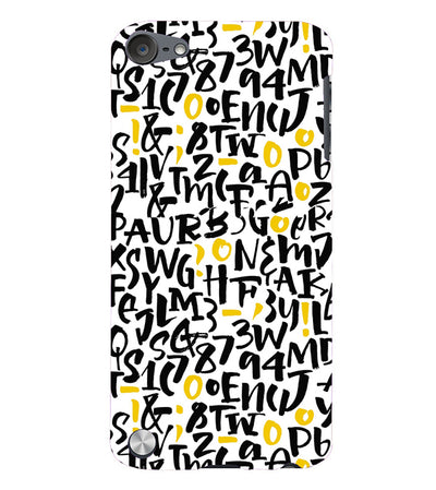 Alphabets And Numbers Back Cover for Apple iPod Touch 5