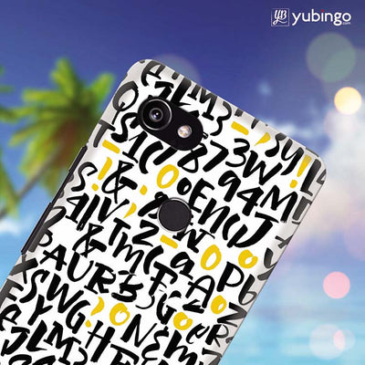Alphabets And Numbers Back Cover for Google Pixel 2 XL (6 Inch Screen)-Image4