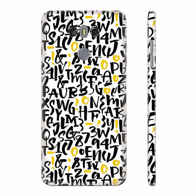 Alphabets And Numbers Back Cover for LG G6
