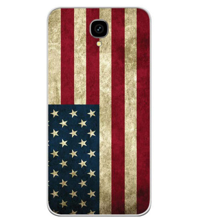 official photos 5b313 acc8f American Flag Soft Silicone Back Cover for Intex Aqua Lions T1 Lite
