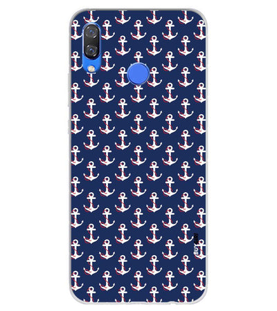 Anchor Pattern Soft Silicone Back Cover for Huawei Y9 (2019)
