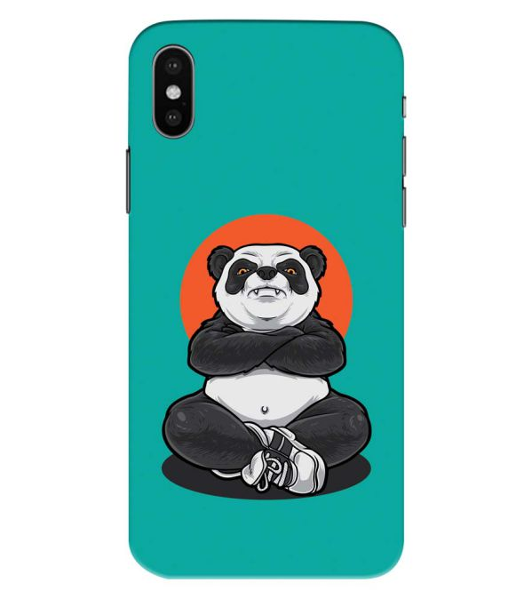 Angry Panda Back Cover for Apple iPhone XS Max (Big 6.5 Inch Screen)
