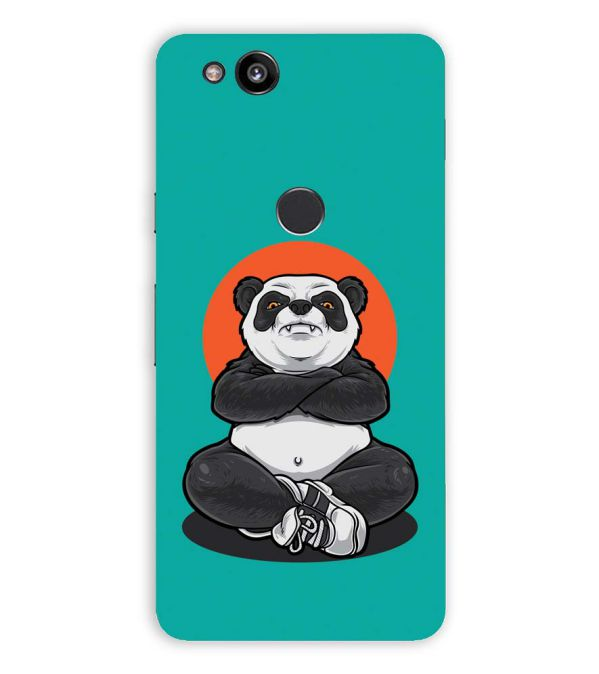 Angry Panda Back Cover for Google Pixel 2 (5 Inch Screen)