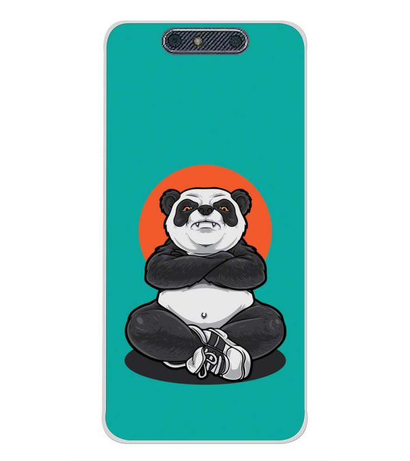 Angry Panda Back Cover for Micromax Dual 4 E4816-Image3