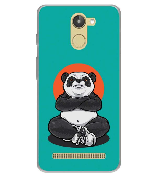 Angry Panda Soft Silicone Back Cover for 10.or D (Tenor D)