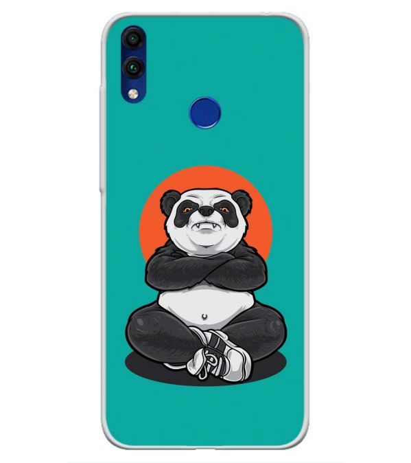 Angry Panda Soft Silicone Back Cover for Honor 8C