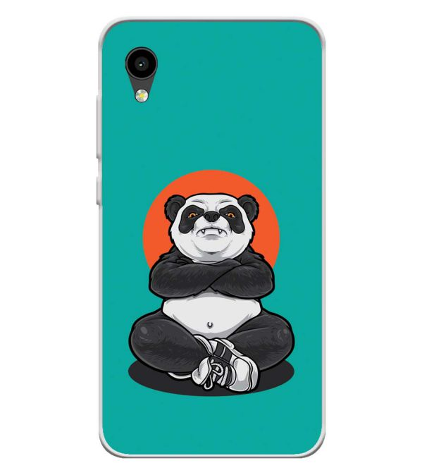 Angry Panda Soft Silicone Back Cover for Intex Aqua 4G Mini