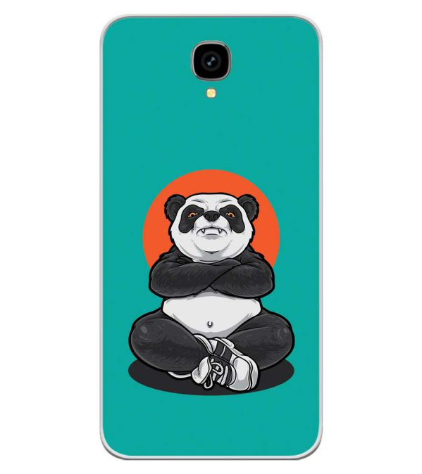 Angry Panda Soft Silicone Back Cover for Intex Aqua Lions T1 Lite