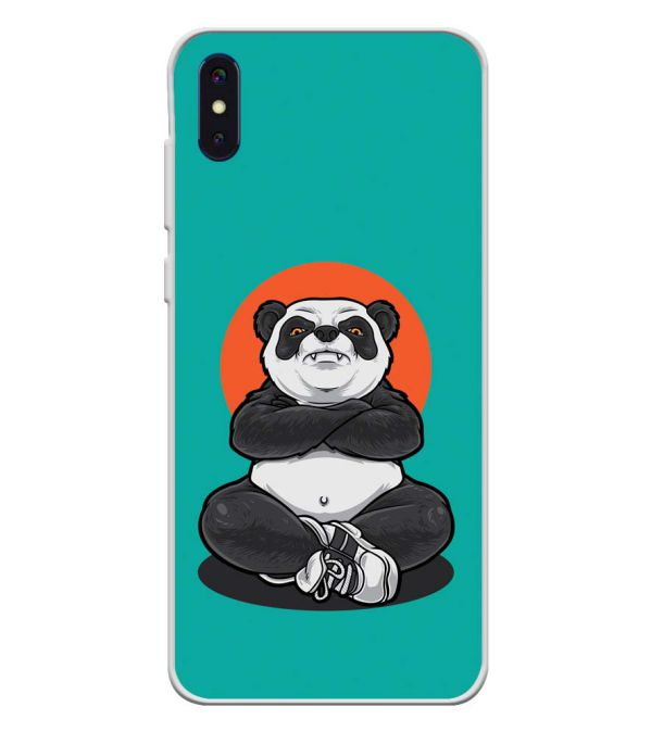 Angry Panda Soft Silicone Back Cover for iVoomi i2