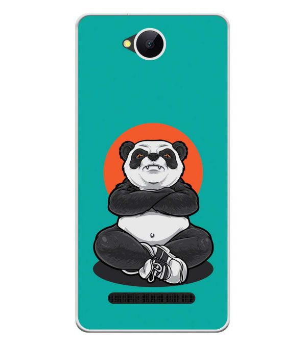 Angry Panda Soft Silicone Back Cover for Karbonn A45 Indian