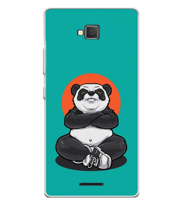 Angry Panda Soft Silicone Back Cover for Lava A82