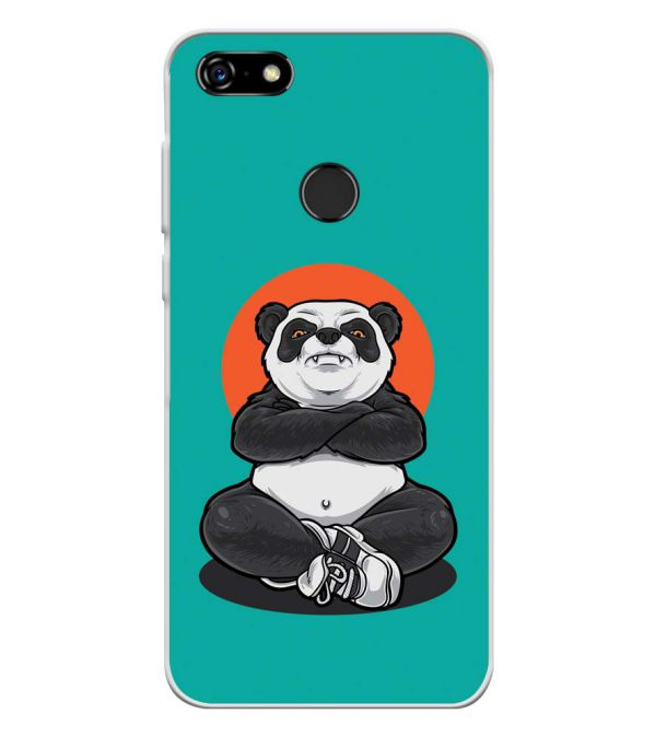 Angry Panda Soft Silicone Back Cover for Lenovo A5