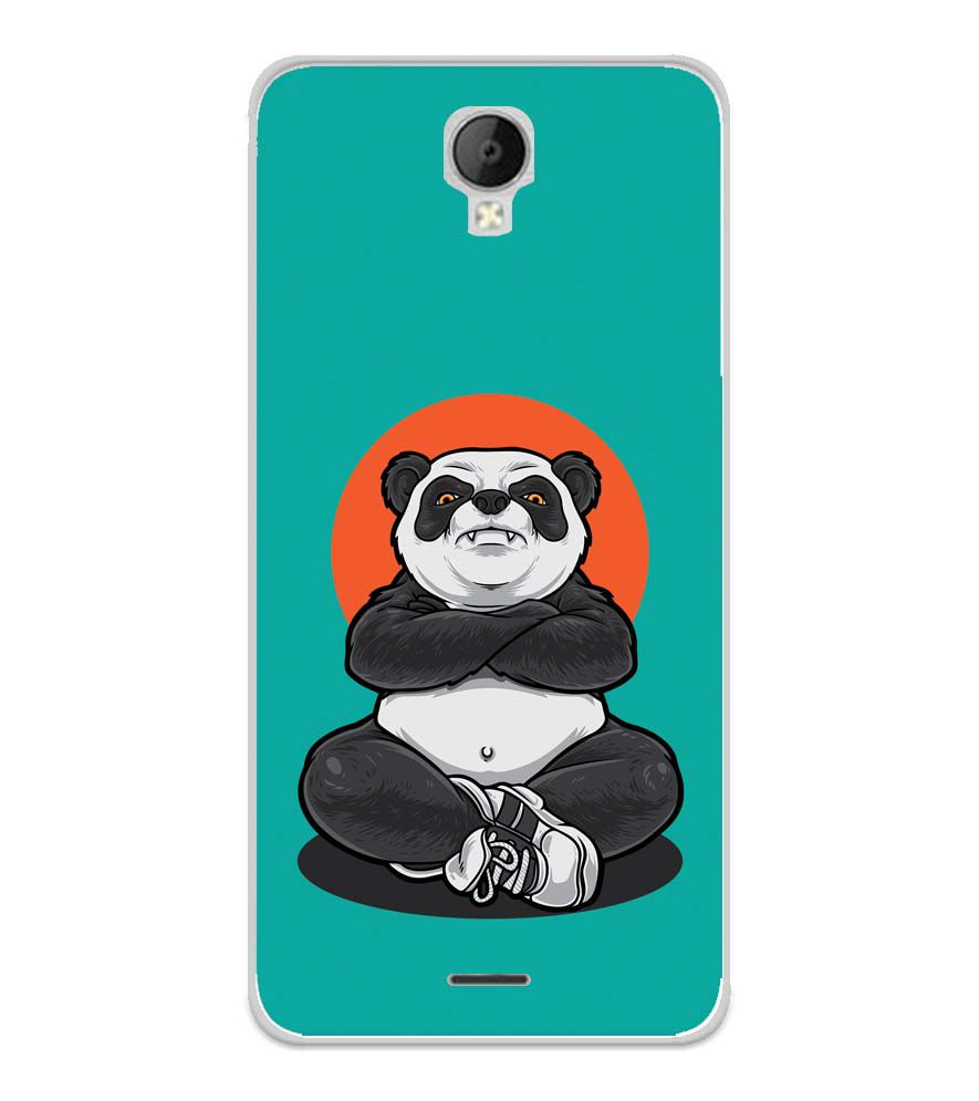 Angry Panda Soft Silicone Back Cover for Micromax Spark Go