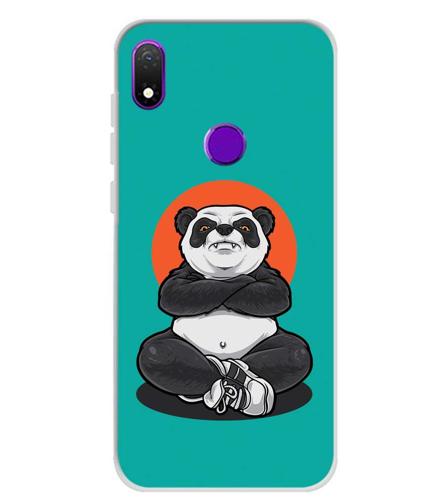 Angry Panda Soft Silicone Back Cover for Mobiistar X1 Notch