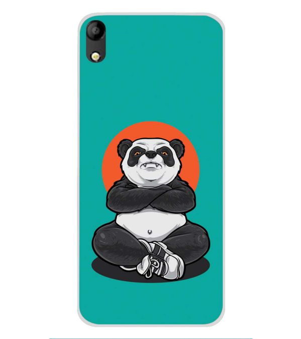 Angry Panda Soft Silicone Back Cover for Mobistar C1