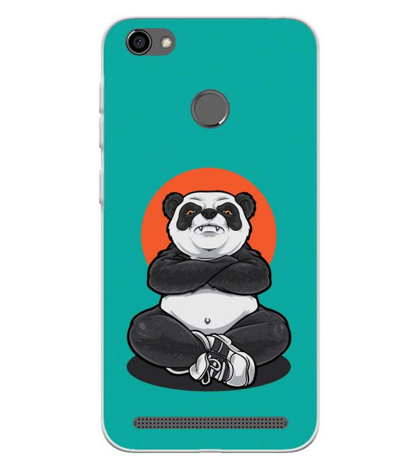 Angry Panda Soft Silicone Back Cover for Panasonic P85 NXT