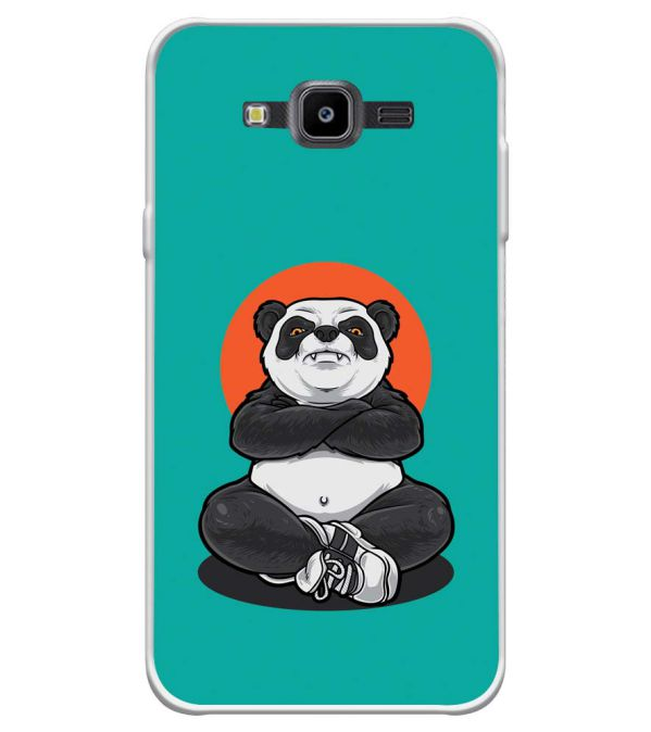 Angry Panda Soft Silicone Back Cover for Samsung Galaxy J7 Nxt