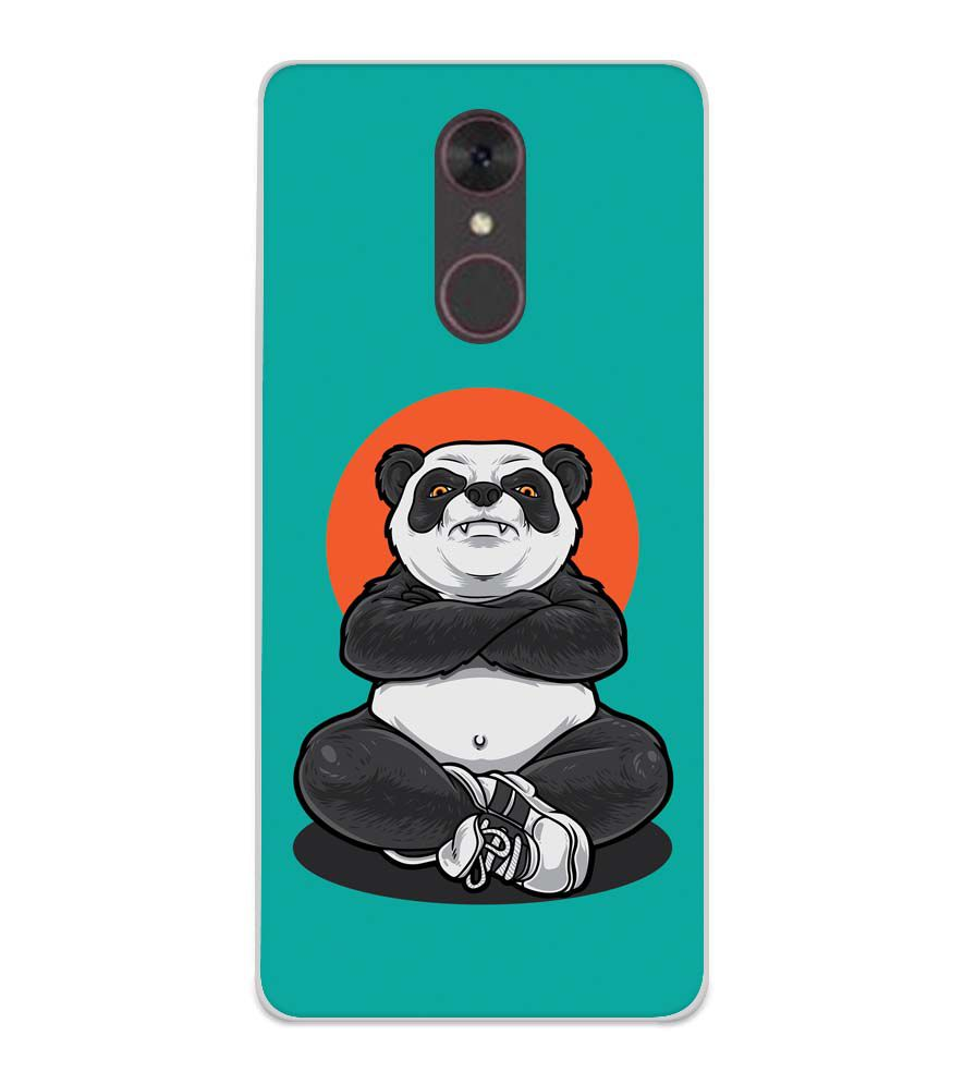 Angry Panda Soft Silicone Back Cover for Spice F311