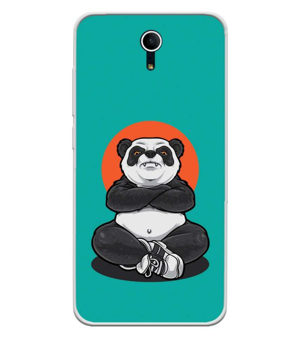 Angry Panda Soft Silicone Back Cover for Swipe Elite Plus