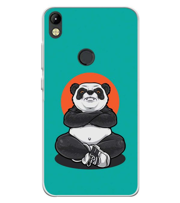 Angry Panda Soft Silicone Back Cover for Tecno Camon I