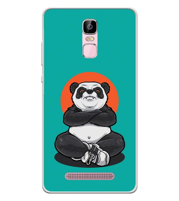 Angry Panda Soft Silicone Back Cover for Zen Admire Sense Plus