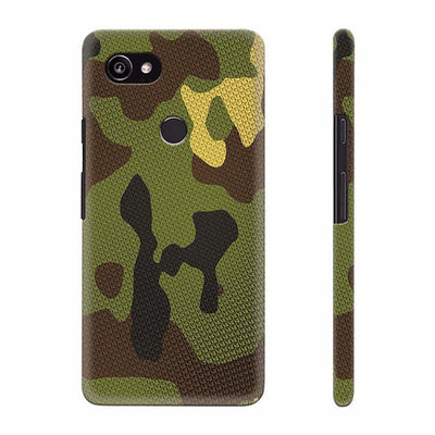 Army Camouflage Back Cover for Google Pixel 2 XL (6 Inch Screen)