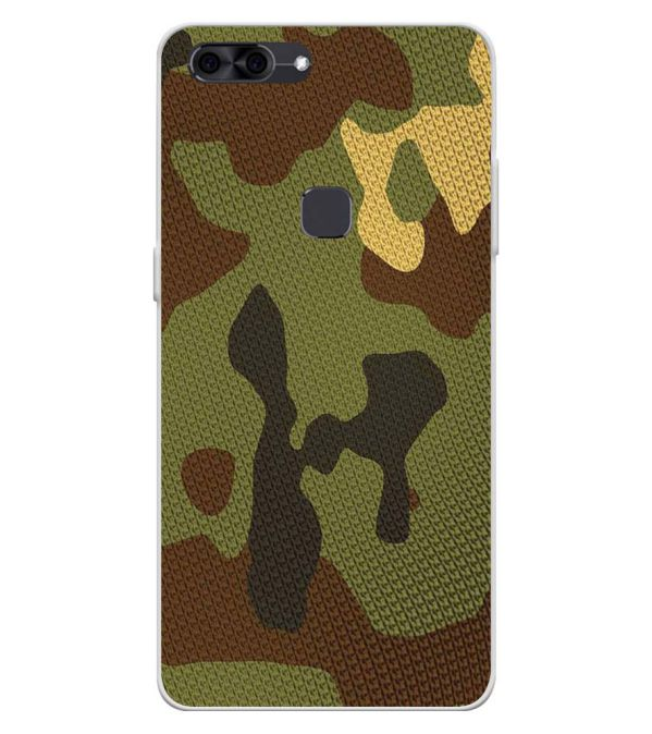 Army Camouflage Soft Silicone Back Cover for Lava Z90
