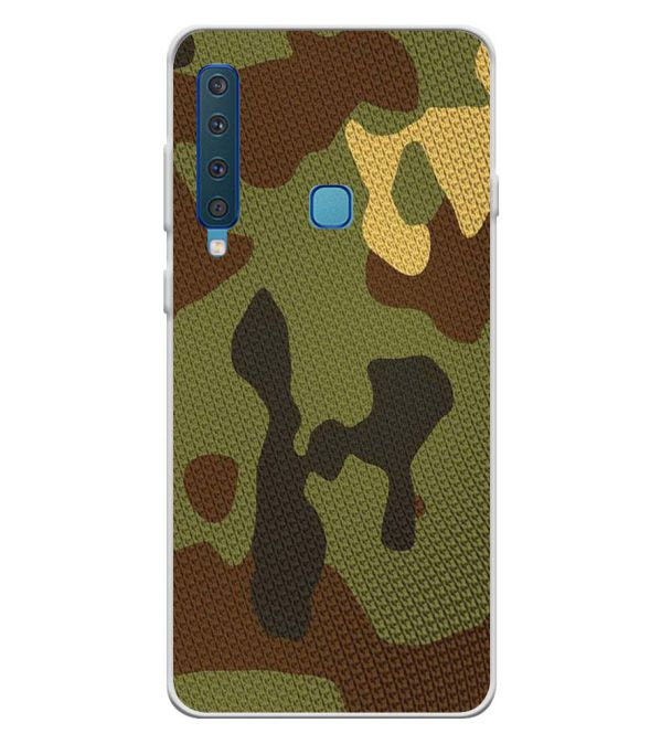 Army Camouflage Soft Silicone Back Cover for Samsung Galaxy A9 (2018)