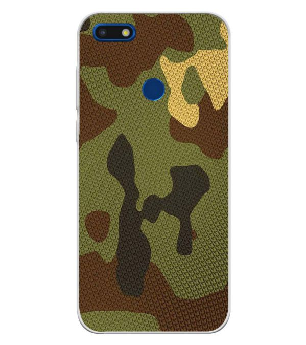 Army Camouflage Soft Silicone Back Cover for YU Ace