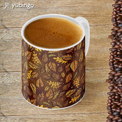Autumn Leaves Customised Alphabet Coffee Mug-Image4