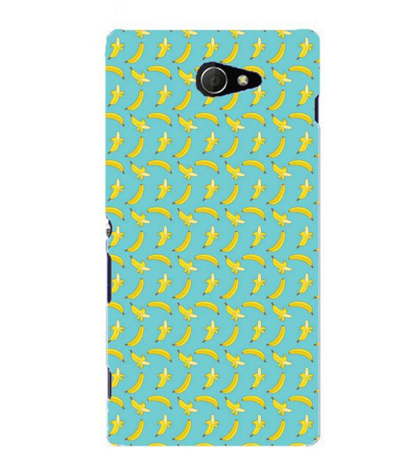 Banana Pattern Back Cover for Sony Xperia M2