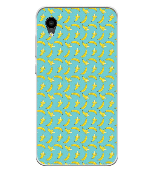 Banana Pattern Soft Silicone Back Cover for Intex Aqua 4G Mini