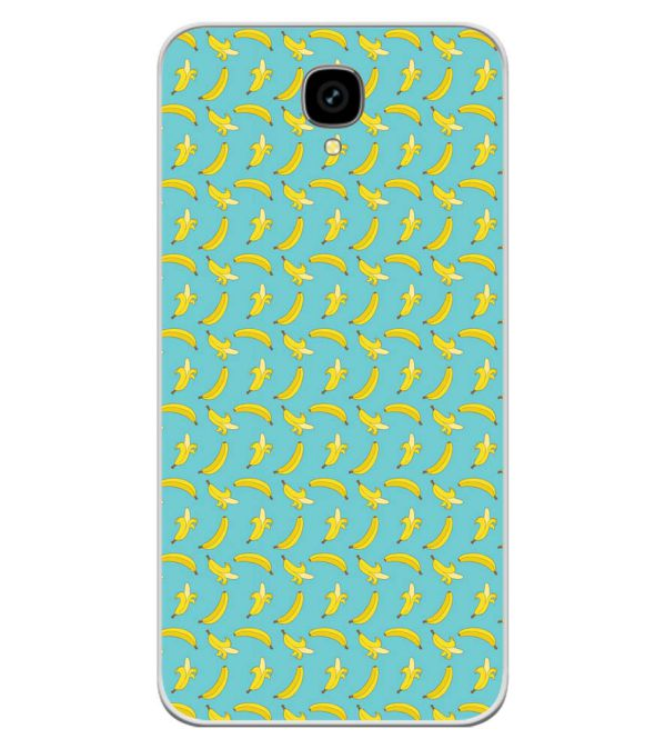 Banana Pattern Soft Silicone Back Cover for Intex Aqua Lions T1 Lite