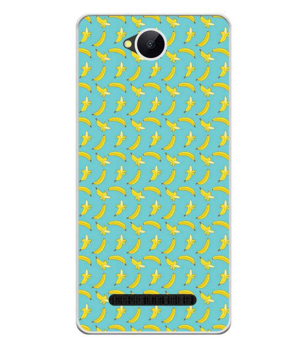 Banana Pattern Soft Silicone Back Cover for Karbonn A45 Indian