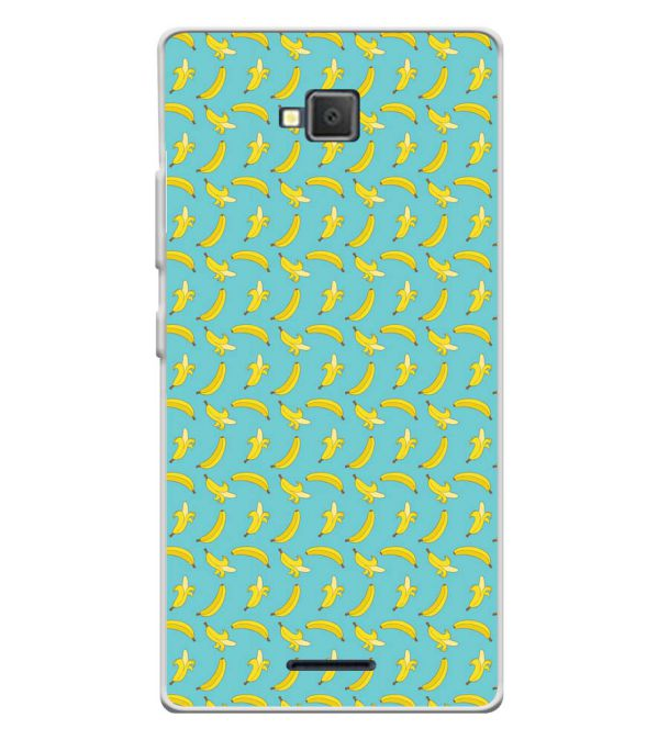 Banana Pattern Soft Silicone Back Cover for Lava A82
