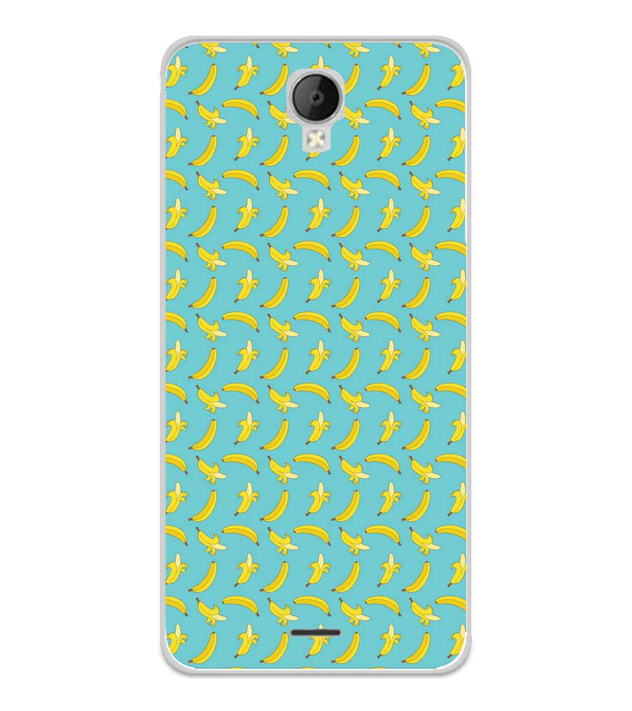 Banana Pattern Soft Silicone Back Cover for Micromax Spark Go