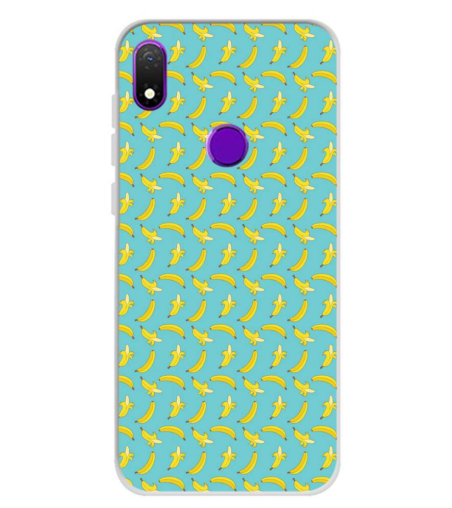 Banana Pattern Soft Silicone Back Cover for Mobiistar X1 Notch