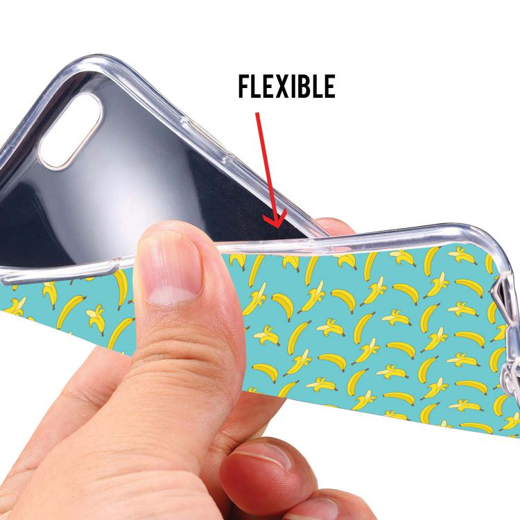 Banana Pattern Soft Silicone Back Cover for Mobistar CQ Dual
