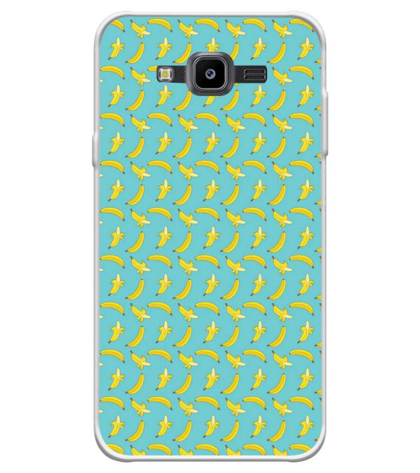 Banana Pattern Soft Silicone Back Cover for Samsung Galaxy J7 Nxt