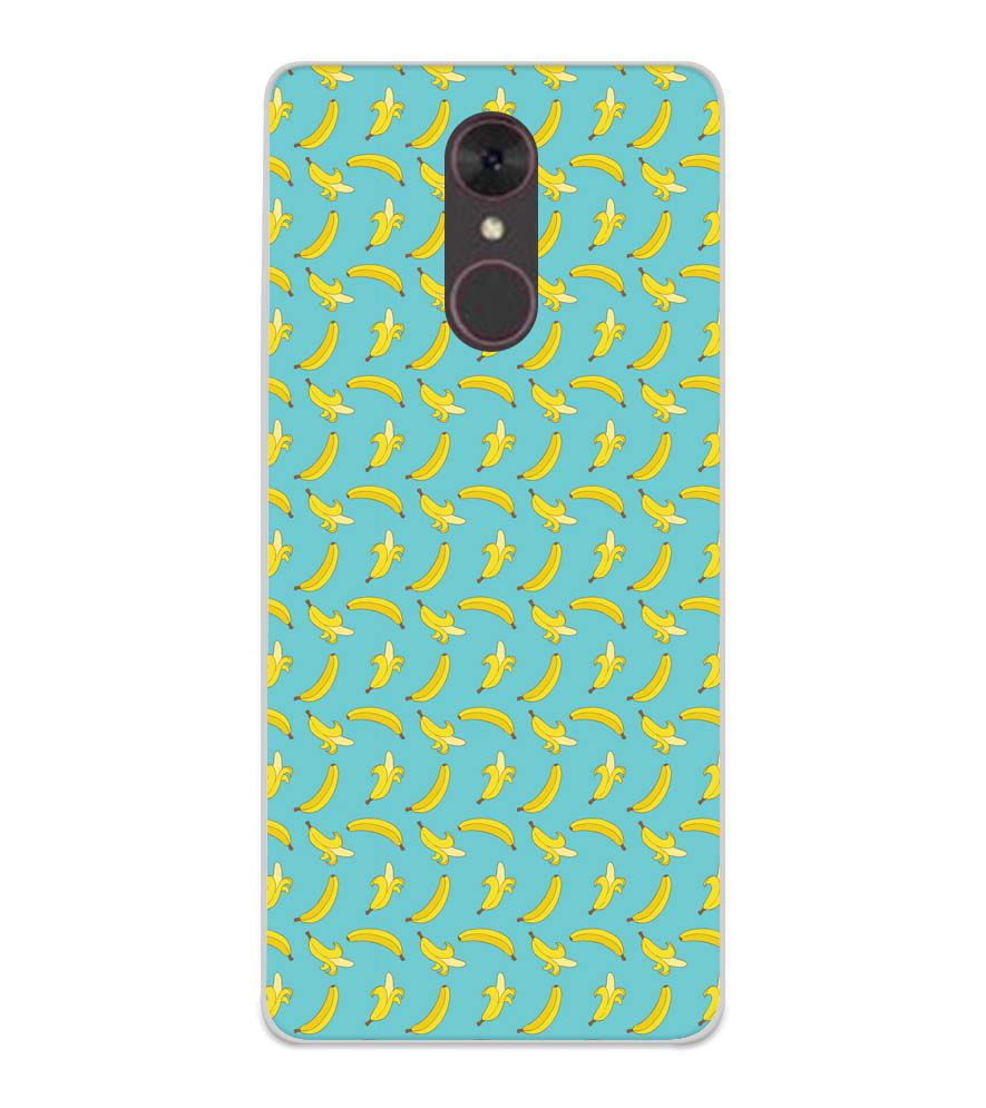 Banana Pattern Soft Silicone Back Cover for Spice F311