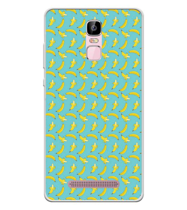 Banana Pattern Soft Silicone Back Cover for Zen Admire Sense Plus