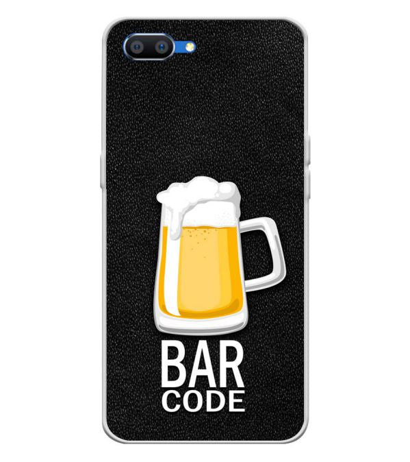 Bar Code Soft Silicone Back Cover for Oppo Realme C1