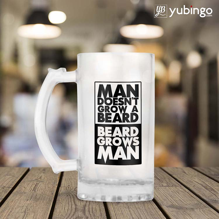Beard Grows Man Beer Mug