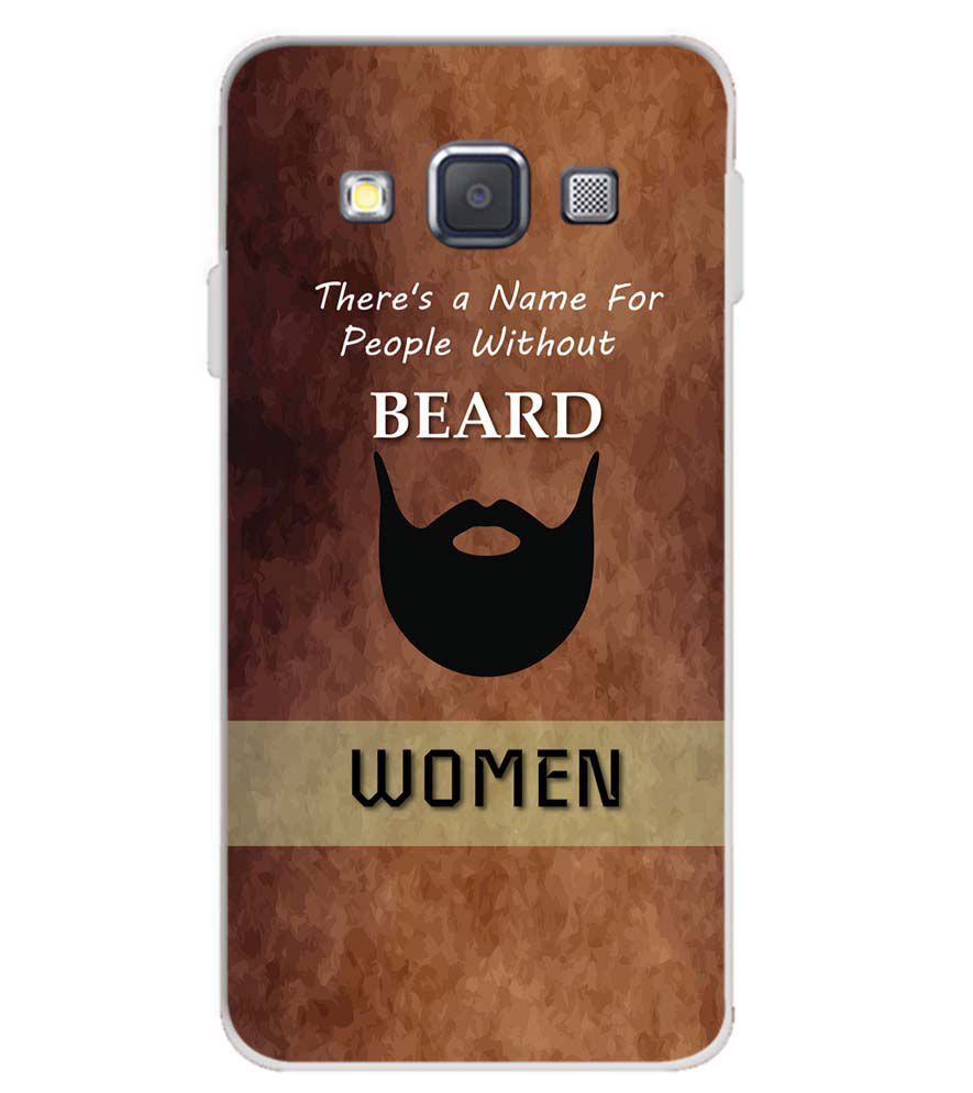 sports shoes 33b0f dd5cf Beard Is Must Soft Silicone Back Cover for Samsung Galaxy A3 (2015)