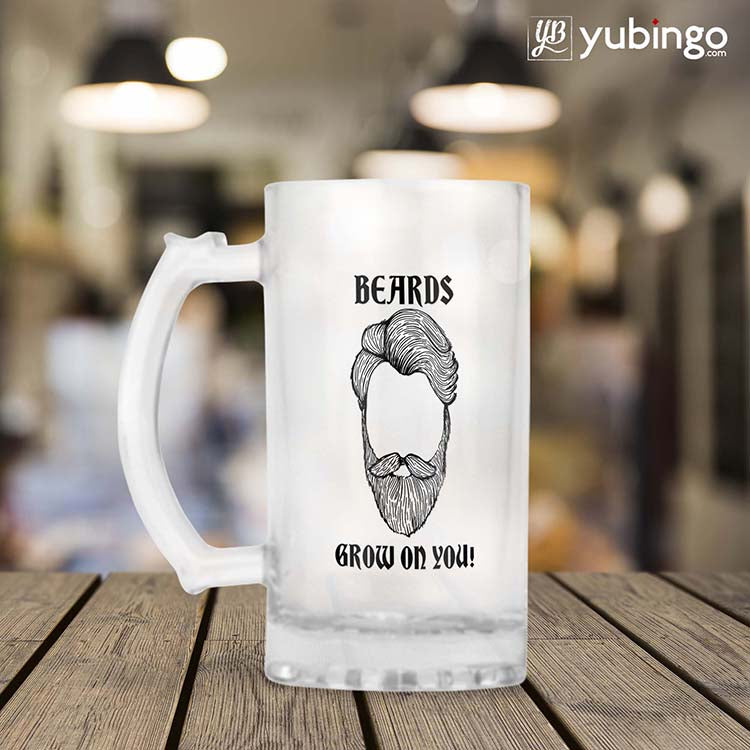 Beards Grow On You Beer Mug