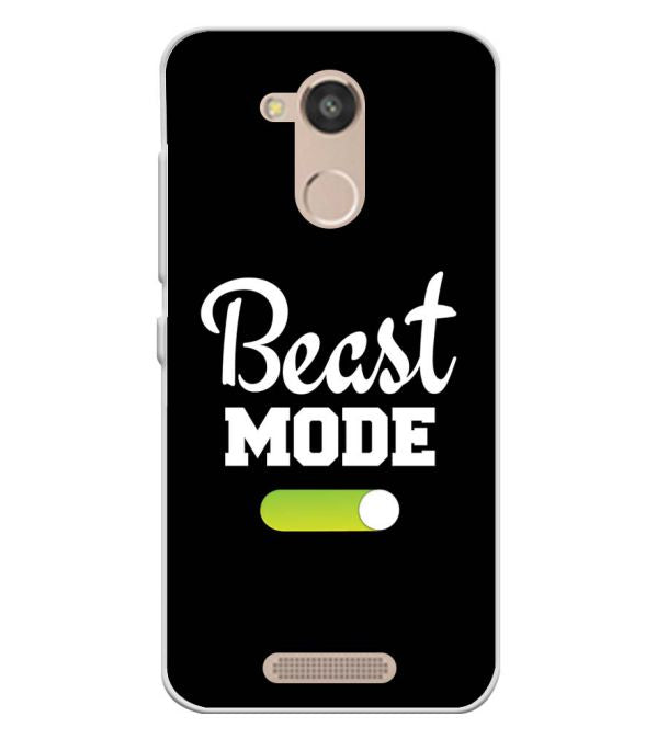 Beast Mode Soft Silicone Back Cover for InFocus Turbo 5s