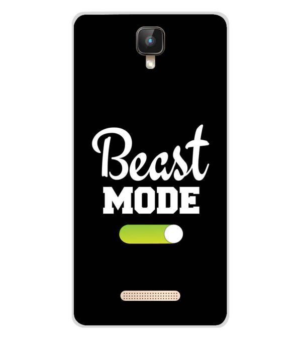 Beast Mode Soft Silicone Back Cover for Intex Aqua Lions 2 4G