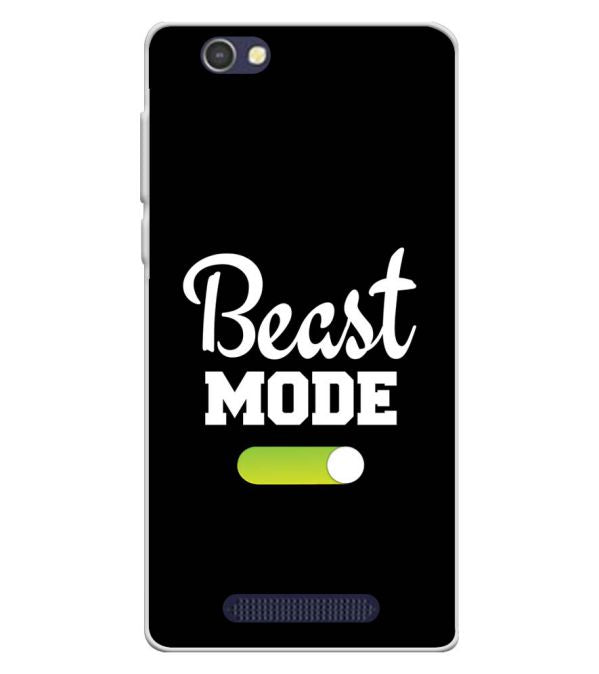 Beast Mode Soft Silicone Back Cover for Lava A72