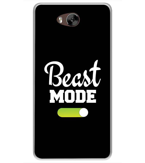 Beast Mode Soft Silicone Back Cover for LYF Wind 4s